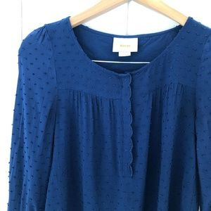 Anthropologie Tops - Anthropologie Maeve Emmeline Blouse in Navy Blue
